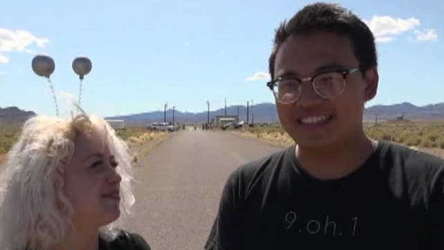Area 51 raiders have a pleasant exchange with military and police