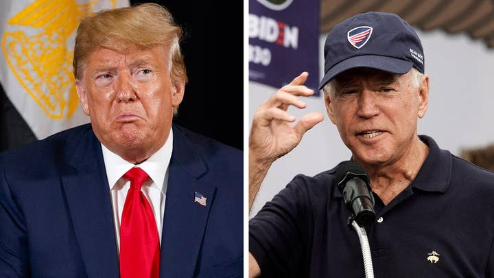 Trump and Biden clash over whistleblower claim