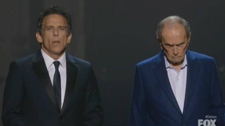 Bob Newhart reminds Ben Stiller he's still alive at Emmy Awards