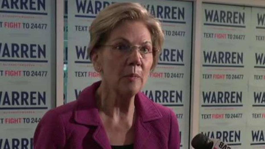Elizabeth Warren leads key Iowa poll for the first time