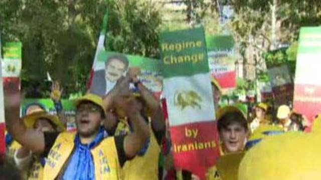 Iranian-Americans stage protest against Tehran regime at United Nations General Assembly
