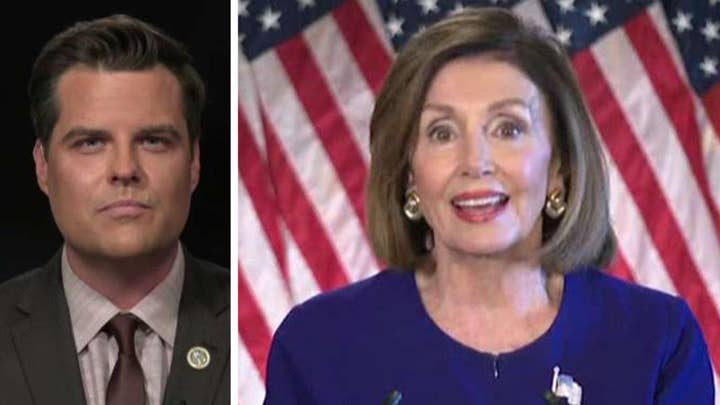 Gaetz: Pelosi's call for impeachment inquiry was unpatriotic
