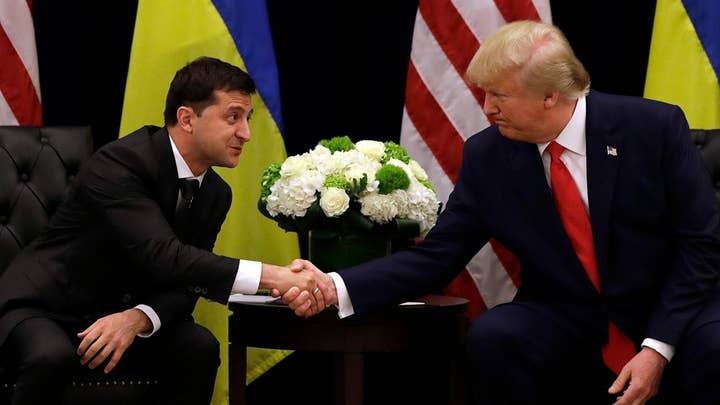 Ukrainian President Zelensky on phone call with President Trump: Nobody pushed me