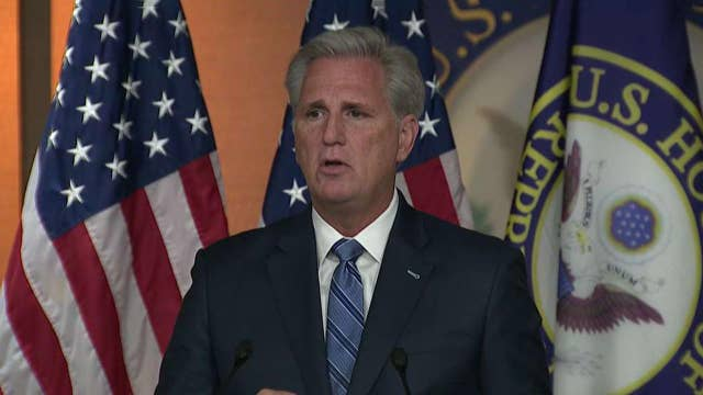 Nancy Pelosi accuses White House of hiding Ukraine call as Kevin McCarthy defends President Trump