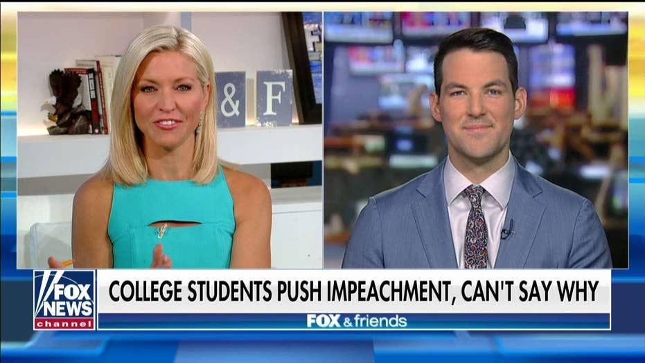 College students call for Trump impeachment, though they're not sure why