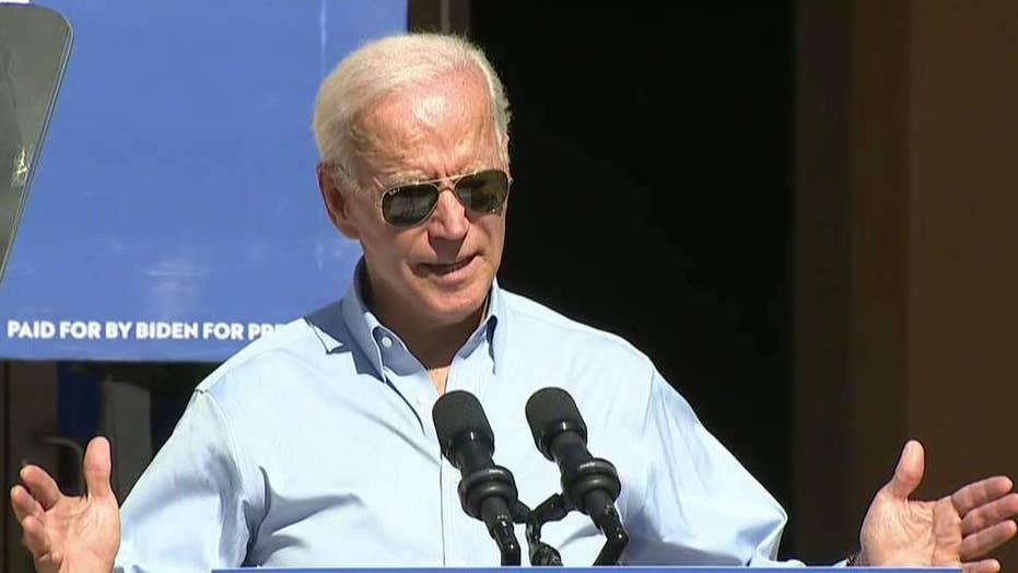 Joe Biden holds first public event after transcript release