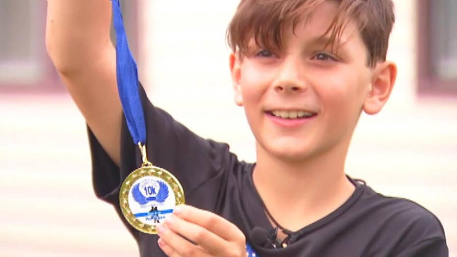9-year-old boy takes wrong turn, wins 10K race