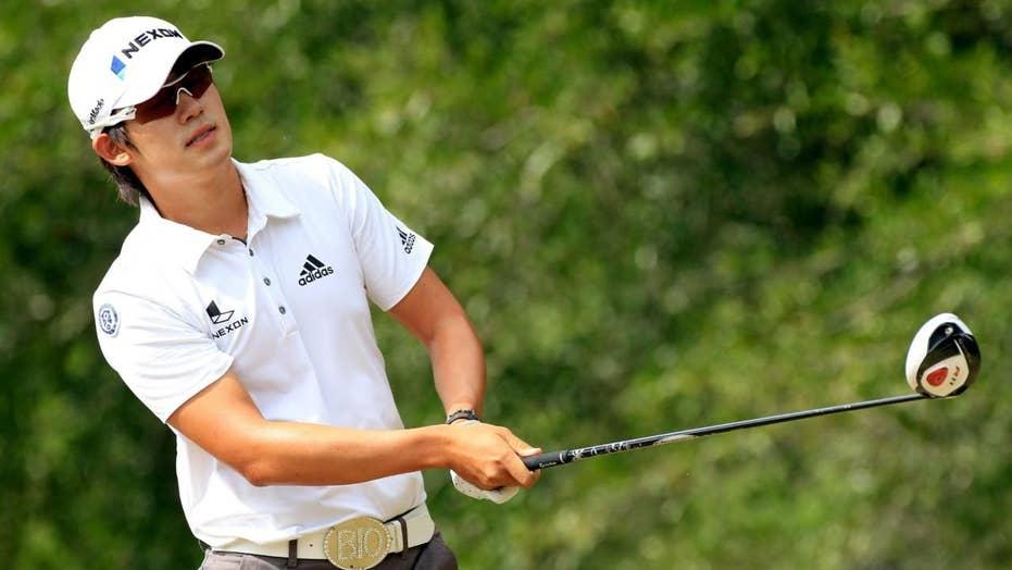 Paige Spiranac hits hole-in-one alongside golf legend Gary Player