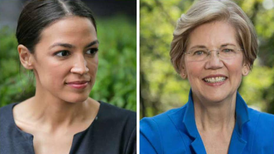 Warren praises Ocasio-Cortez's Just Society plan