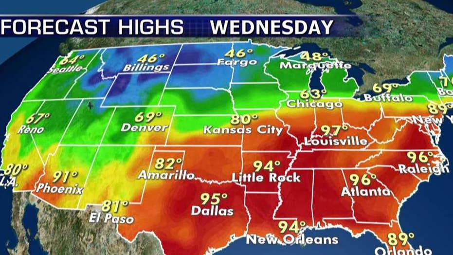 National forecast for Wednesday, October 2