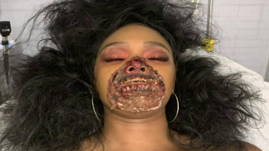 Model wearing zombie makeup rushed to the hospital, causes stir in emergency room