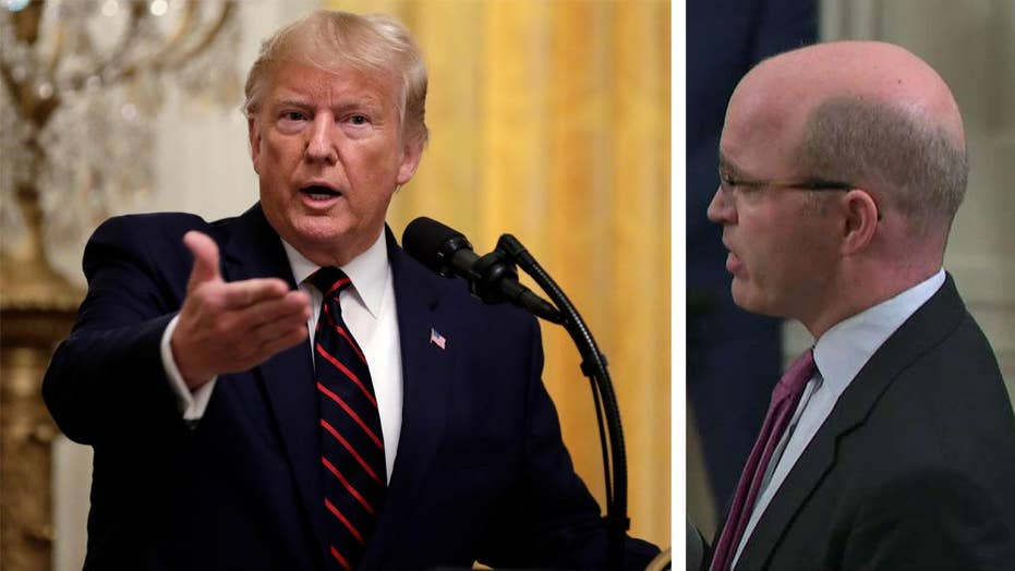 President Trump spars with Reuters White House correspondent