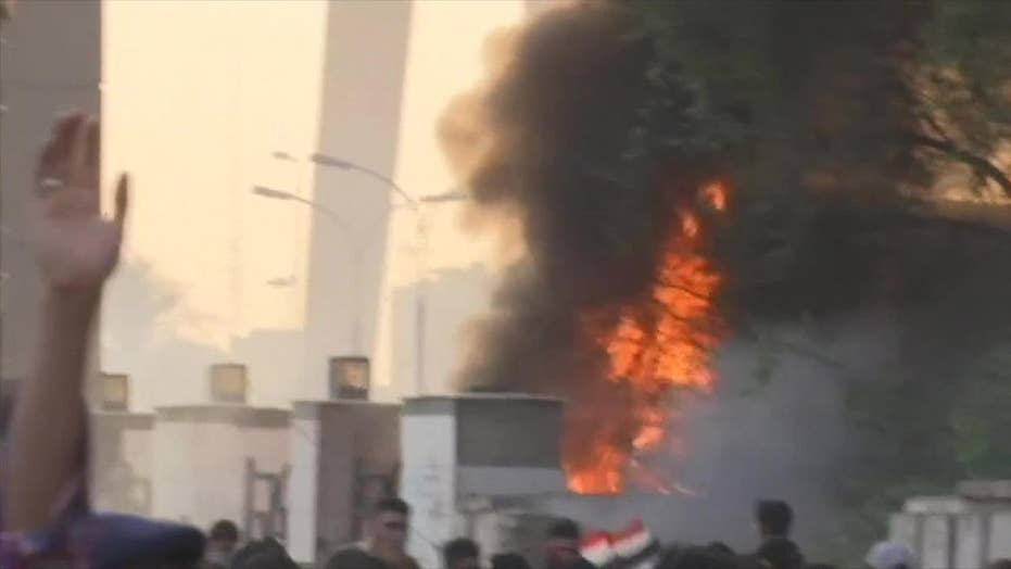 Five dead as protestors and security forces clash in Baghdad