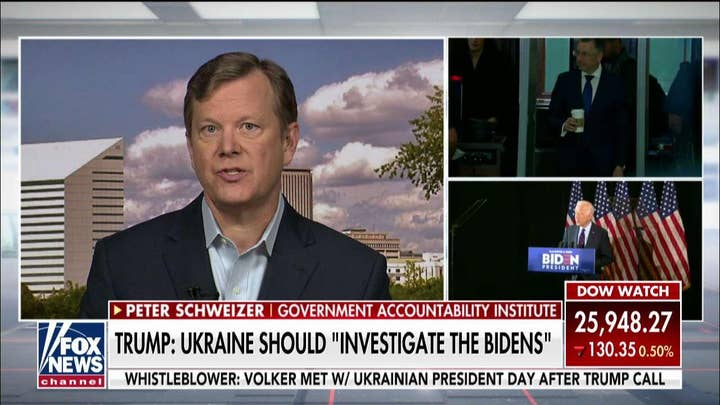 Peter Schweizer: The bottom line is Joe Biden and his son's Ukraine dealings must be investigated