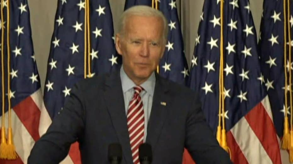 Former Vice President Joe Biden hits back at President Trump's accusations at a Nevada rally