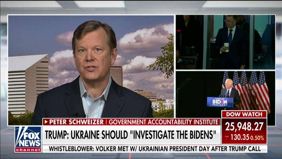 Peter Schweizer: The bottom line is Joe Biden and his son's Ukraine dealings must be investigated