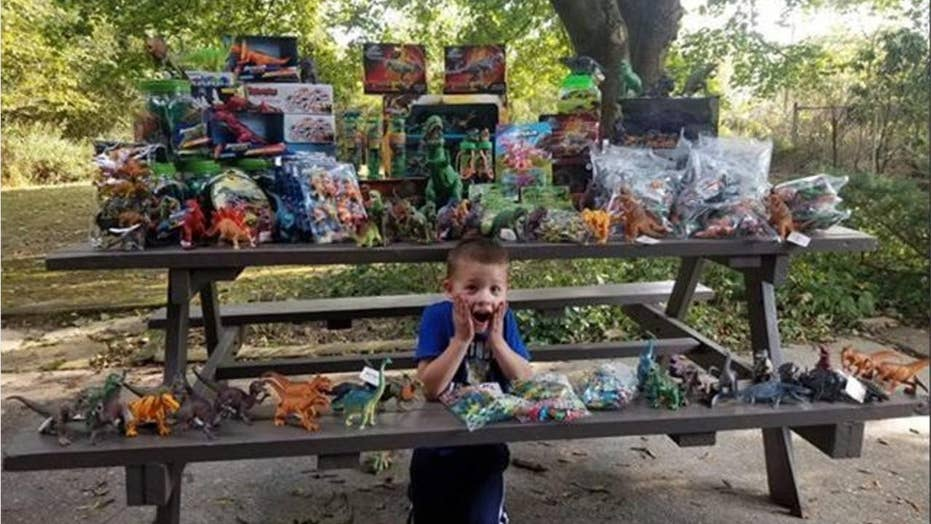 5-year-old cancer survivor gives back for his birthday