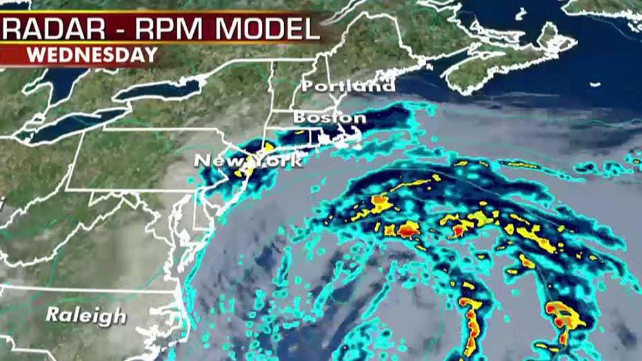 National forecast for Wednesday, October 9