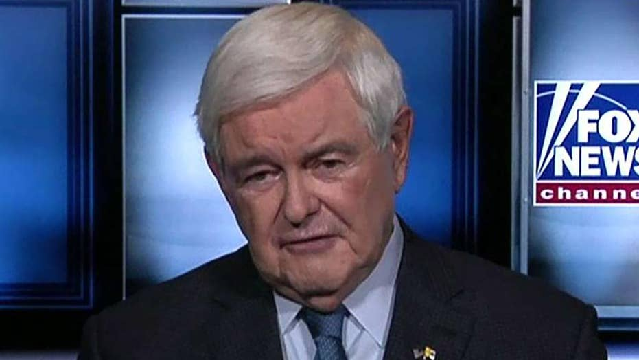 Newt Gingrich on Trump's strategy against impeachment inquiry, Clinton saying she could beat Trump 'again'
