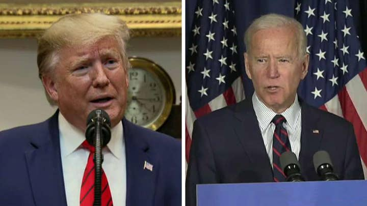 President Trump and Joe Biden battle amid impeachment push