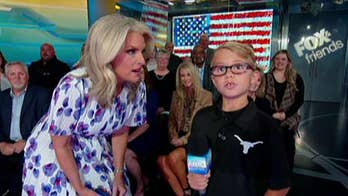 10-year-old who gave viral team pep talk delivers the weather forecast on 'Fox & Friends'