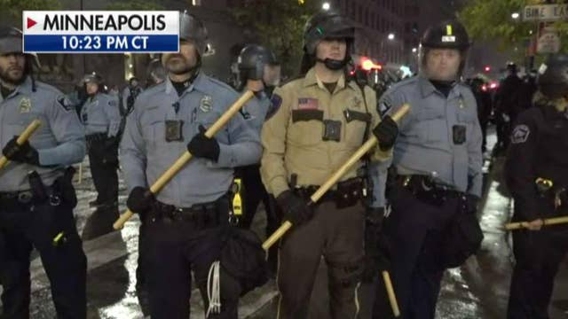 Tensions on the street after Trump rally