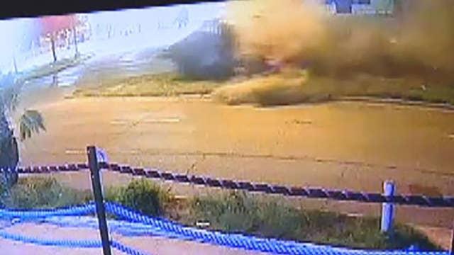 Security camera shows boxer Errol Spence Jr. Ferrari crash