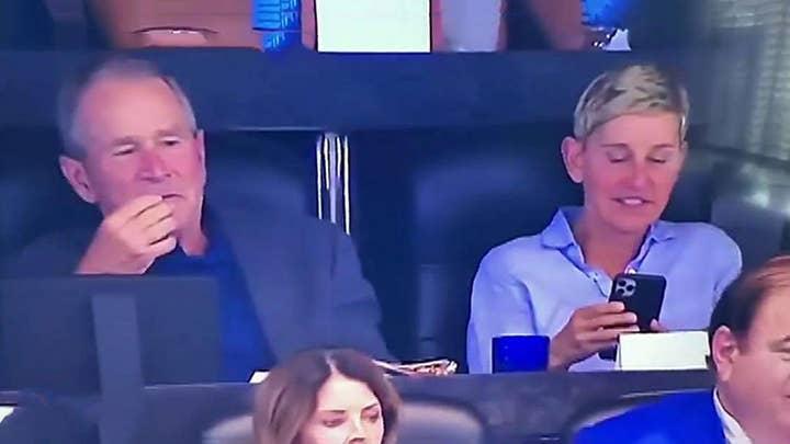 Ellen slammed over her friendship with 'war criminal' George W. Bush