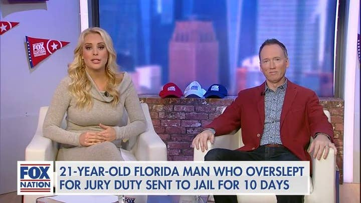 Britt Mchenry on Florida man sentenced to jail time for sleeping through jury duty: 'That is just bananas'