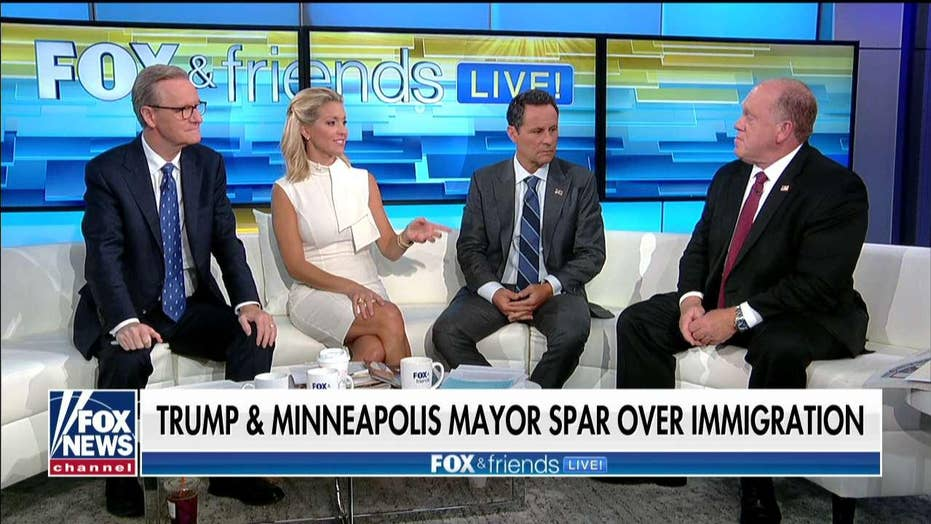 Tom Homan tells Minneapolis's Mayor he needs to remember who he works for