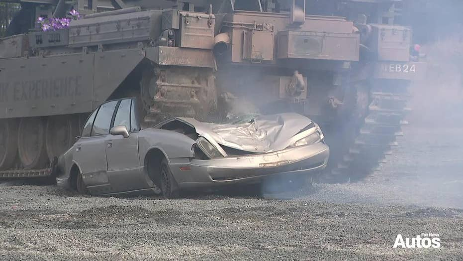 Here's how to vanquish a automobile with a tank