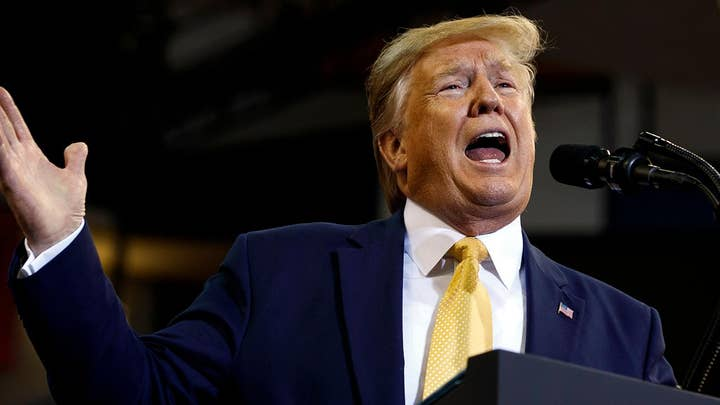 WARNING GRAPHIC LANGUAGE: Trump calls Democrats' impeachment inquiry 'bull s---'