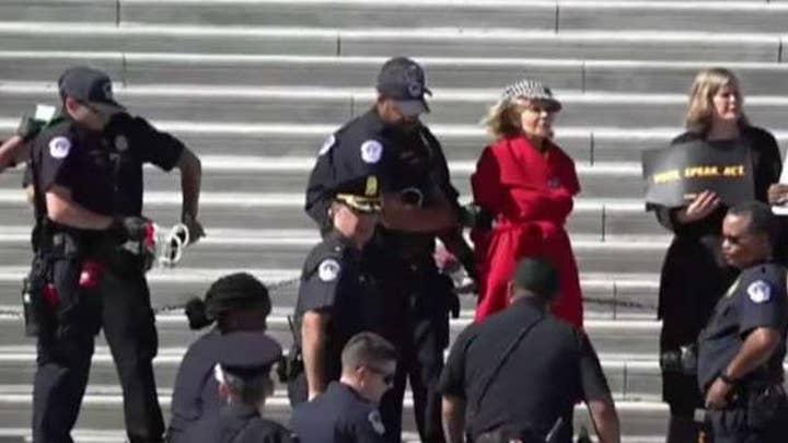 Jane Fonda arrested during climate protest
