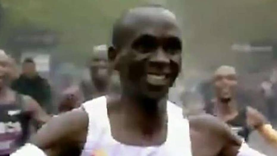 Kenyan runner breaks two-hour marathon barrier
