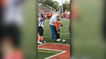 7-year-old boy with cerebral palsy makes honorary football captain for a day