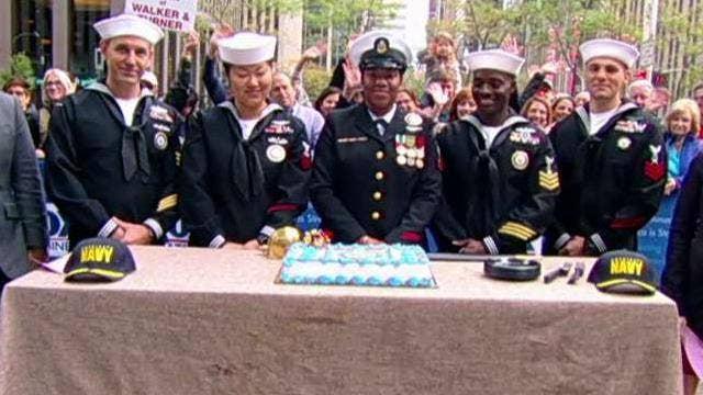 'Fox & Friends' celebrates the Navy's 244th birthday!
