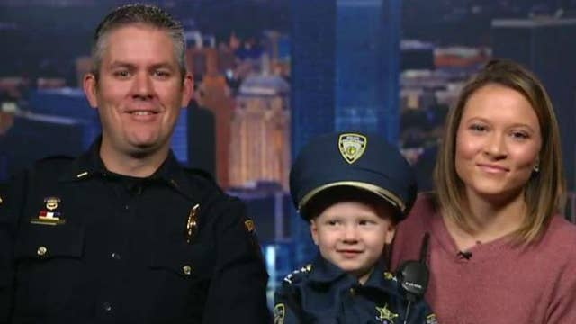 Little boy wows Oklahoma police with his uniform