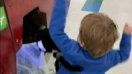 Michigan boy, 3, beats up Halloween spider decoration in viral clip