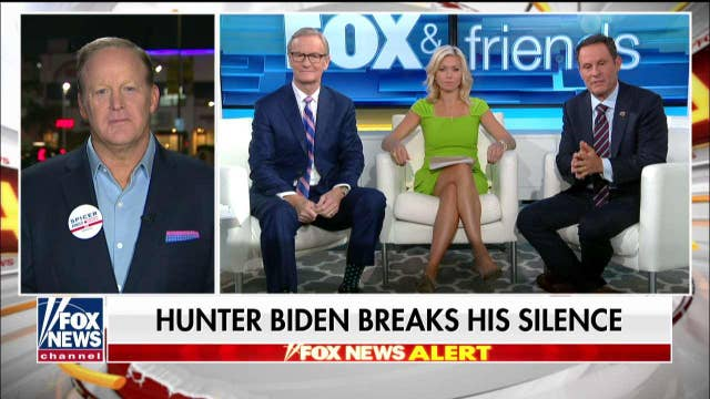 Sean Spicer reacts after Hunter Biden breaks his silence