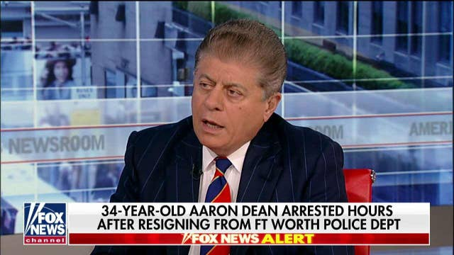 Ex-Texas cop charged with woman's murder will have difficult time proving 'justifiable fear,' Judge Napolitano says