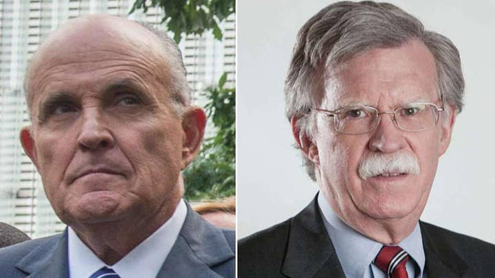 Bolton reportedly called Giuliani a 'hand grenade' on the Ukraine issue