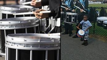 4-year-old鈥檚 adorable drumline debut goes viral