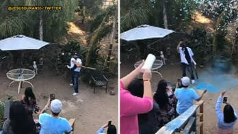 Baseball-themed gender reveal ends with a strikeout for the dad-to-be