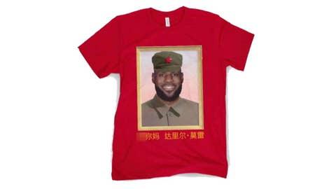 Barstool Sports selling shirt mocking LeBron James' China comments