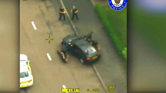 Police in UK release footage from dramatic chase of hijacked police vehicle