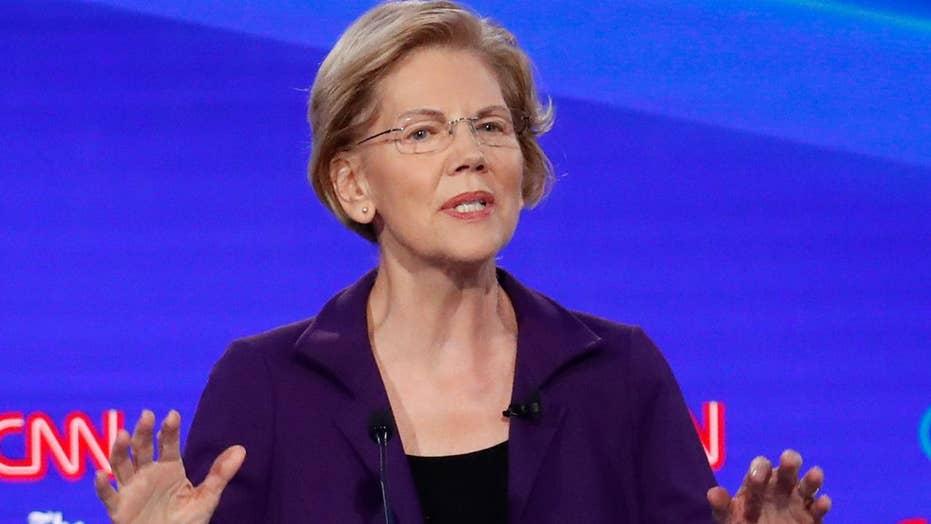 Warren gets frontrunner treatment from opponents at Ohio Democrat primary debate