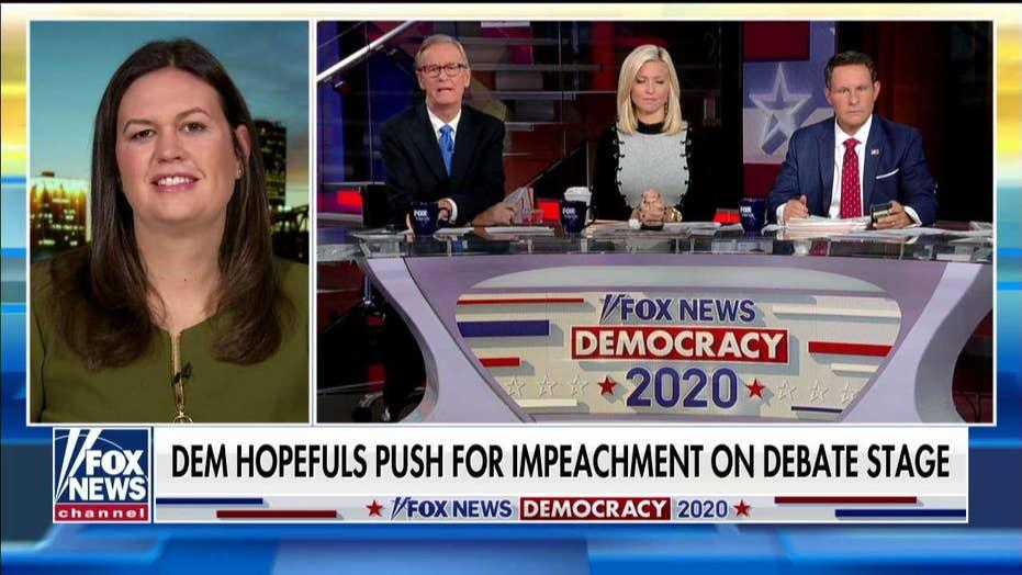 Sarah Sanders: Dems know Warren is frontrunner and Biden is done