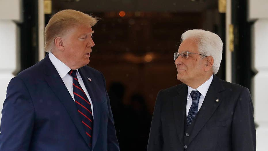 Trump, Italian President Mattarella deliver remarks at joint press conference