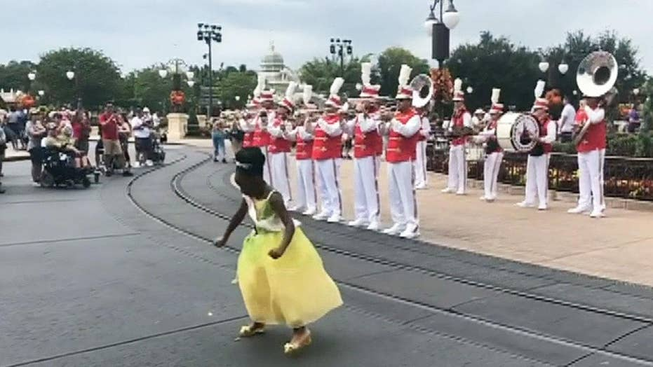 8-year-old 'princess' wows crowd, goes viral with Disney World dance