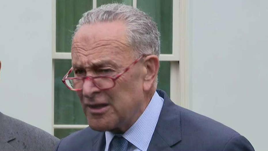 Schumer, Pelosi, Hoyer speak at White House after meeting with President Trump on Syria